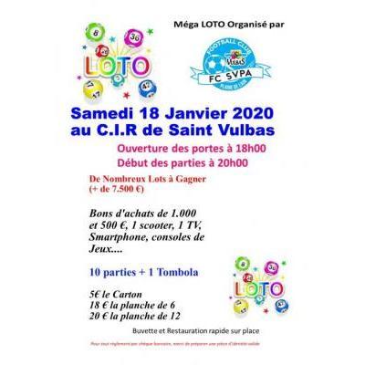 Méga loto organisé par le F.C SVPA