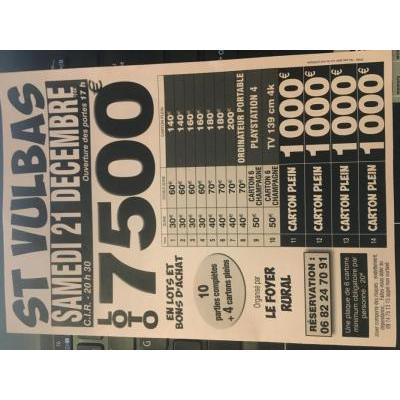 Maxi Loto avec 7500€ de lots et bons d'achats