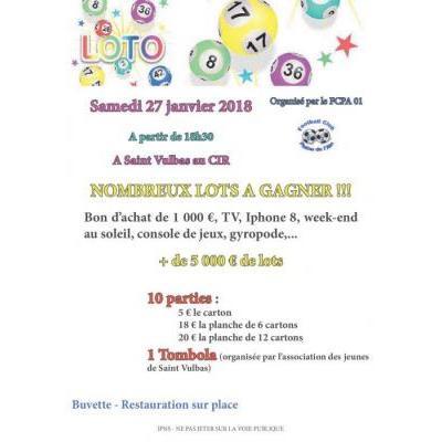 Méga loto organisé par le FCPA01