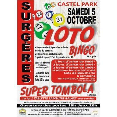 LOTO BINGO TOMBOLA et SUPER TOMBOLA
