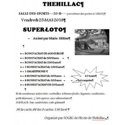 SUPER LOTO DE L'ECOLE DE THEHILLAC