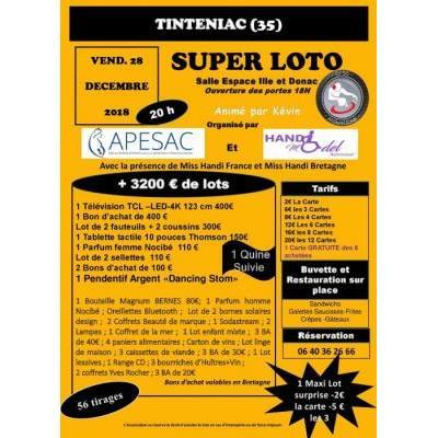 SUPER LOTO + 3200€ de lots à gagner , 56 tirages ,1 Quine , 1 MAXI lot Surprise