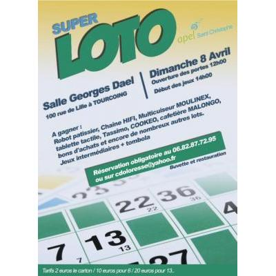 Super loto avec de tres beaux lots à gagner