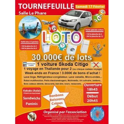 Affiche du loto à Tournefeuille (31) le 17/02/2018