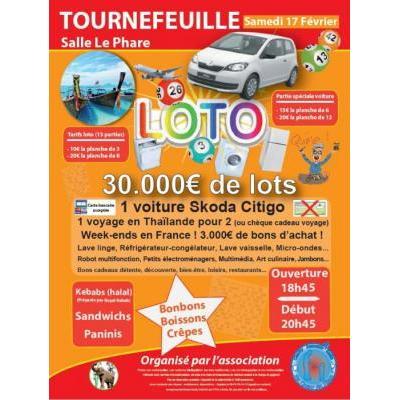 Loto géant 34.000€ de lots (voiture, voyage...) association Au Cœur du Siam