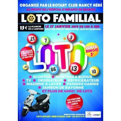 LOTO FAMILIAL AU PROFIT DE L'HOPITAL D'ENFANTS DE BRABOIS