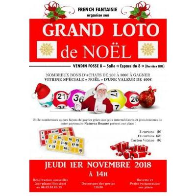 GRAND LOTO DE NOËL organisé par French Fantaisie