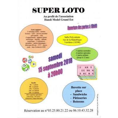 SUPER LOTO au profit de l'association Handi Model Grand-Est