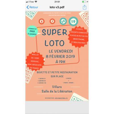 Super Loto École Jean Guitton Villars