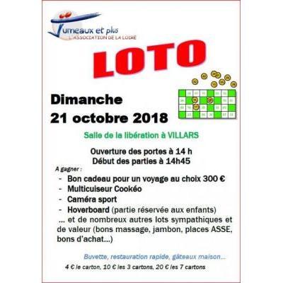 Loto organisé par l'association Jumeaux et Plus de la Loire
