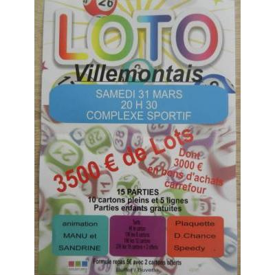 Loto Villemontais 20H30