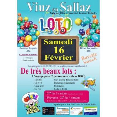 Loto du sou des écoles de Viuz-en-Sallaz