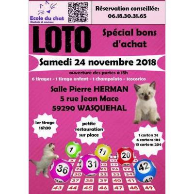 Super Loto de l'école du chat de Roubaix