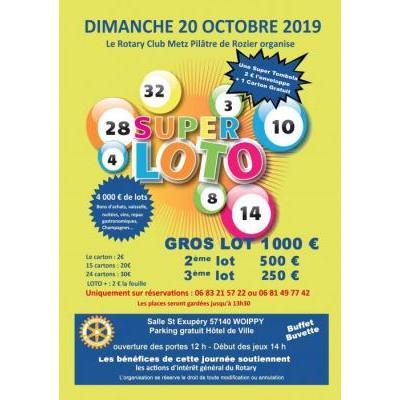 Super Loto du Rotary Club Metz Pilâtre de Rozier