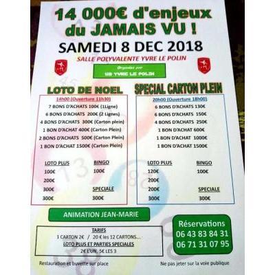 14000 euros d'enjeux dans deux lotos a yvre le polin 14h