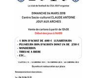 Loto du football club de Jouy Aux Arches ( CSA )