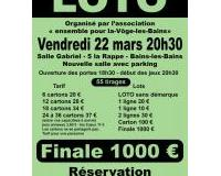 3200 € - 55 tirage - finale 1000 €