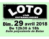 Loto annuel du club ENTRAMILOISIRS de BELIGNEUX