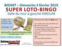 SUPER LOTO-BINGO organisé par le Bidart Union Club Rugby
