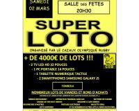 Super Loto (+4000€ de lots) organisé par le Cazaux Olympique Rugby - 20H30