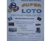 Super Loto (+2500€ de lots) organisé par la Boule du Lac - 21H00