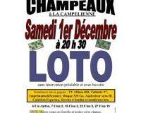 LOTO du 1er décembre 2018 à CHAMPEAUX (77720)