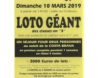 """Loto Géant des classes en """"3"""""""
