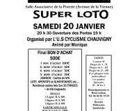 SUPER LOTO par L'U.S CYCLISME CHAUVIGNY