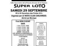 SUPER LOTO du MOTO CLUB Chauvinois