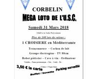 Méga loto de l'Union Sportive Corbelinoise