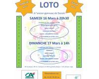 Dim 17 Mars 14h00 : Loto au profit des enfants de l'école Saint Joseph de Dozulé