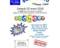 Super loto à Fleury/Orne le samedi 02 mars 2019 à 20h