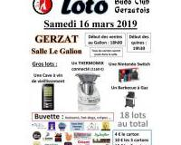 Grand loto du Budo Club Gerzatois