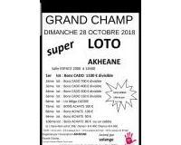 Super loto animé par Solange 1er bon cadeau  1100€,  700€,400€,200€..(divisible)