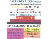 SUPER-LOTO-SPÉCIAL/ BONS D ACHATS/ animateur / louis /