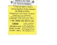 """SUPER-LOTO-  DU  DIMANCHE  / 11 NOVEMBRE / 14H /   """" SALLE   DES 3  îLES """""""