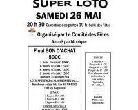 Super Loto du Comité des Fêtes animé par Monique Bon d'achat 500€