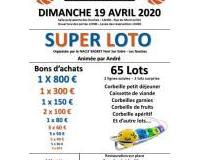 SUPER LOTO + de 3000 € de lots Animé par André
