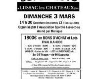 SUPER LOTO de A.S Lussac par Monique