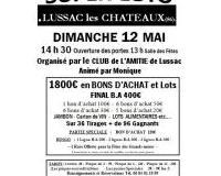Super Loto Organisé par le CLUB de L'AMITIE de Lussac  Animé par Monique