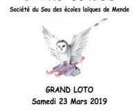 LOTO de la Chouette écolière - Société du Sou des écoles laïques de Mende