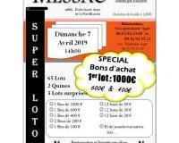 LOTO BONS d'achat: 1er lot 1000€,600€,400€...