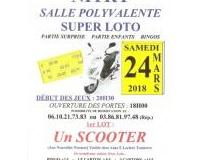 Super Loto 1er lot un SCOOTER