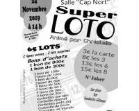 SUPER LOTO ORGANISE PAR CHRISTELLE. ASSOCIATION NACLT BASKET