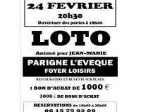 LOTO du Club de Tennis de Table de Parigné