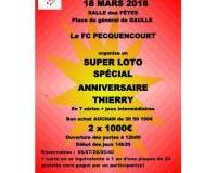 Super loto organiser par le FC.PECQUENCOURT SPECIAL ANNIVERSAIRE THIERRY