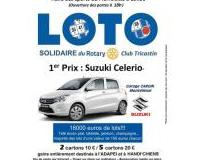 Grand Loto Solidaire du Rotary - 16.000€ de lots - Voiture-TV-Tablette-Electro..