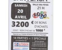 Super Loto 3200 Euros de Bons D'achats dont 1 de 1000 euros