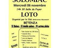 Loto du Club des Aines