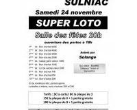 Super Loto animé par solange le 24 novembre à Sulniac